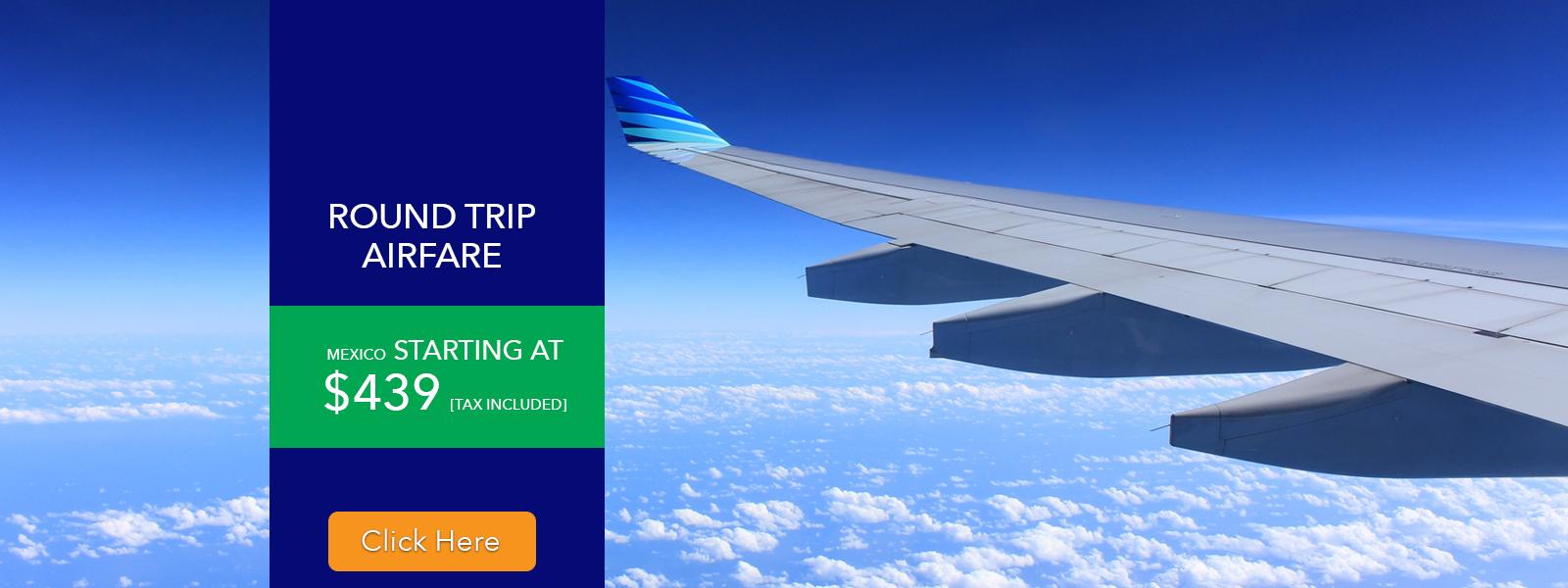 Flights | Airfare | Round Trip | Air Only